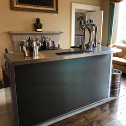 stainless steel mobile bar